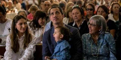Guaidó asistió a una misa dominical.