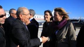 Danilo Medina fue recibido por Stefano Taliani de Marchio, embajador de Italia y director de Ceremonial del Palacio de Quirinale, y Charlotte Salford, vicepresidenta de Relaciones Internacionales del FIDA.