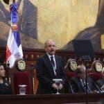 Danilo Medina durante su discurso de rendición de cuentas ante la Asamblea Nacional.