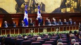 Danilo Medina durante su discurso de rendición de cuentas.