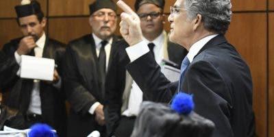 Conrado Pittaluga se defiende en audiencia.  archivo