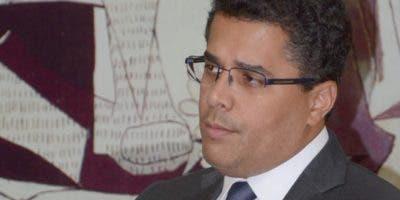 David Collado durante   el Almuerzo  del Grupo de Comunicacones  Corripio .  Jose de León