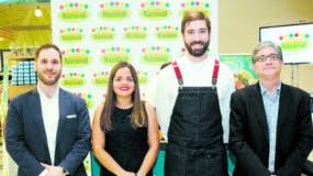 Jaime Rico, Natacha Quiterio, Nicolás Frigerio e Iker Burgoa al dar los detalles de la promoción.