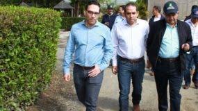 Osmar Benítez  visitó el vivero en Rancho Arriba.