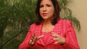 Margarita Cedeño asegura que es tiempo del liderazgo femenino en el país.  Archivo