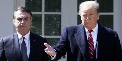 Donald Trump  y el brasileño   Jair Bolsonaro se reunieron ayer  en Washington.