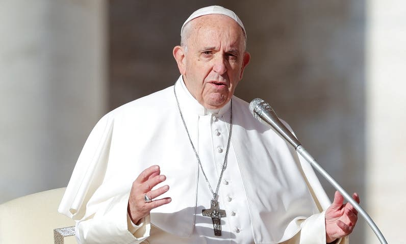 FILE PHOTO: Pope Francis leads the weekly general audience in Saint Peter's square at the Vatican