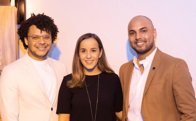 José Miguel Guerrero, Loren Medrano y Jean Carlos Núñez durante el encuentro.