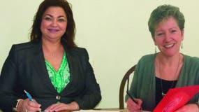 Xiomara Albertson y Joanne Tracy Carruthers.