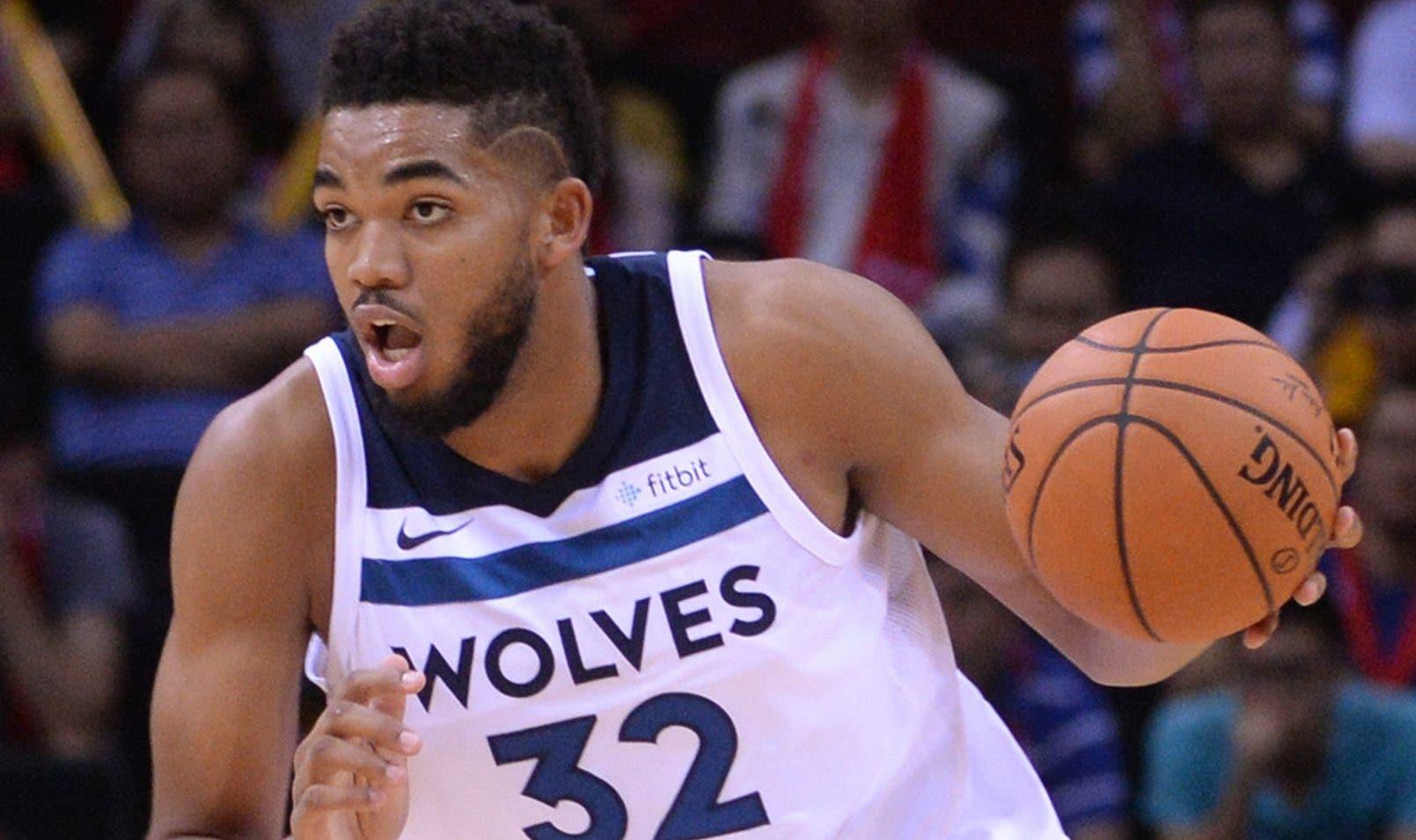 Karl-Anthony Towns sería una gran atracción con el equipo dominicano en la Copa Mundial FIBA  2019 en China.  AP