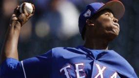El dominicano José Leclerc está señalado para ser el cerrador de los Vigilantes de Texas en esta temporada.  AP