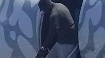 Michael Jordan baja del avión con su hija.   FUENTE externa