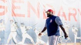 El dominicano David Ortiz es   leyenda en los Medias Rojas.  AP