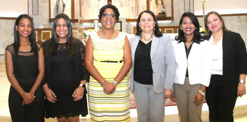 Shawell Peña, Lisbel Sánchez, Daniela Cruz, Yosarah Fernández, Dilenny Evangelista y Sinthia Sánchez.
