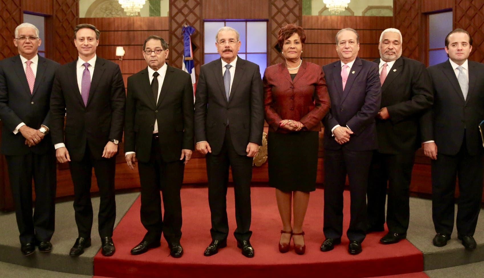 Fran Soto, Jean Rodríguez, Mariano Germán, Danilo Medina, Josefa Castillo, Reinaldo Pared, Radhamés Camacho, José Paliza.
