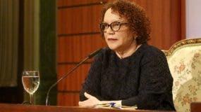 Miriam Germán Brito al momento de ser evaluada el lunes por el Consejo Nacional de la Magistratura.  fuente externa