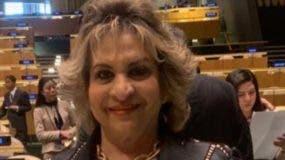 Alexandra Izquierdo en la actividad de la ONU.