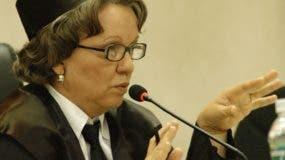 Miriam Germán Brito tiene más de 40 años en la judicatura y aspira permanecer otros cinco   en SCJ.  ARCHIVO