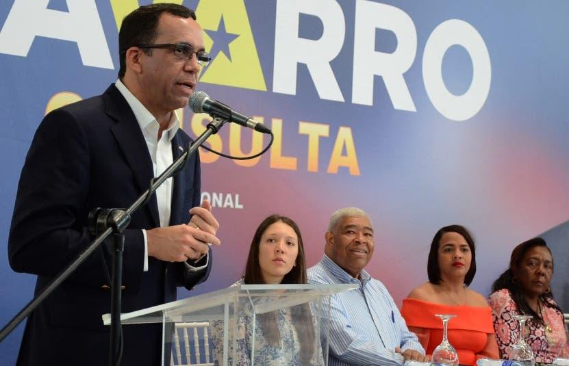 Navarro encabezó  el acto de cierre de las consultas.  José   de León