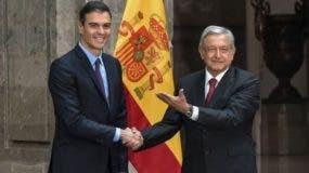 El presidente de España, Pedro Sánchez, se reunió con López Obrador en enero.