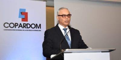 El presidente de la Confederación Patronal de la República Dominicana (Copardom), Juan de la Cruz,