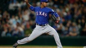 José Leclerc, cerrador de los Rangers de Texas.
