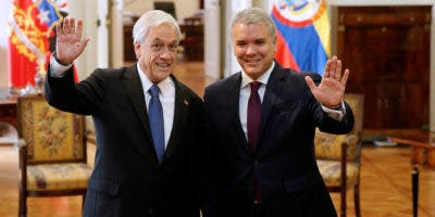 Los presidentes Sebastián Piñera, de Chile, e Iván Duque, de Colombia.