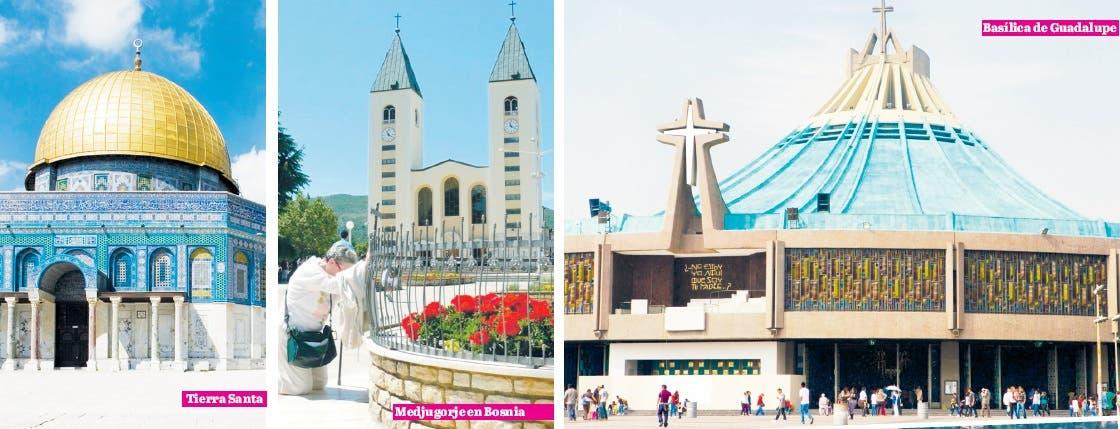 Una parte importante del turismo mundial es de peregrinos, quienes  por devoción  visitan lugares ligados a su fe.