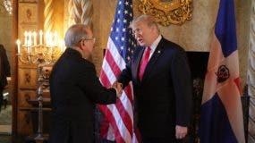 Presidente Danilo Medina es recibido por Donald Trump, presidente de los Estados Unidos, en compañía de Melania Trump.