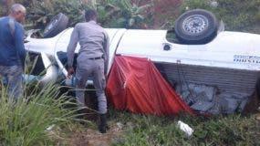 El accidente ocurrió en el kilómetro 43 de la autopista Duarte.