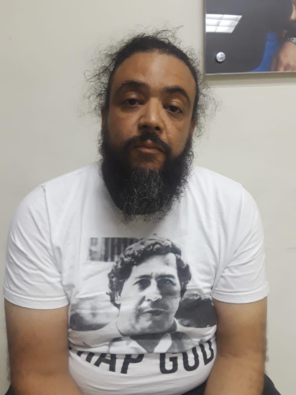 Sidney Rafael Matías Pérez (Matías el Fuerte) fue detenido en Santiago.