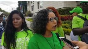 Raynelda Ridríguez, miembro de Marcha Verde.