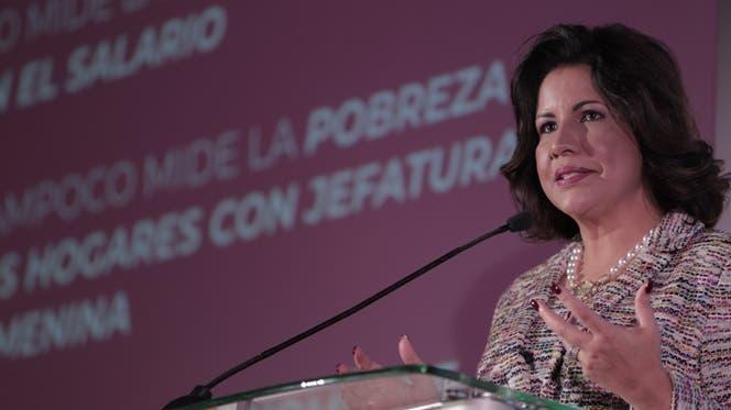 La vicepresidenta Margarita Cedeño.