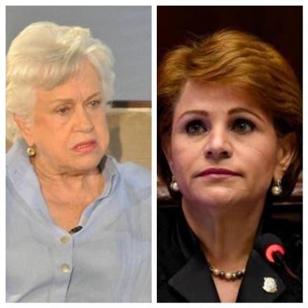 Milagros Ortiz Bosch y Lucía Medina.