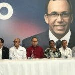 Navarro habló durante el cierre de las consultas con dirigentes del Distrito Nacional, las provincias de Santo Domingo y Monte Plata. Foto: Degnis De León.