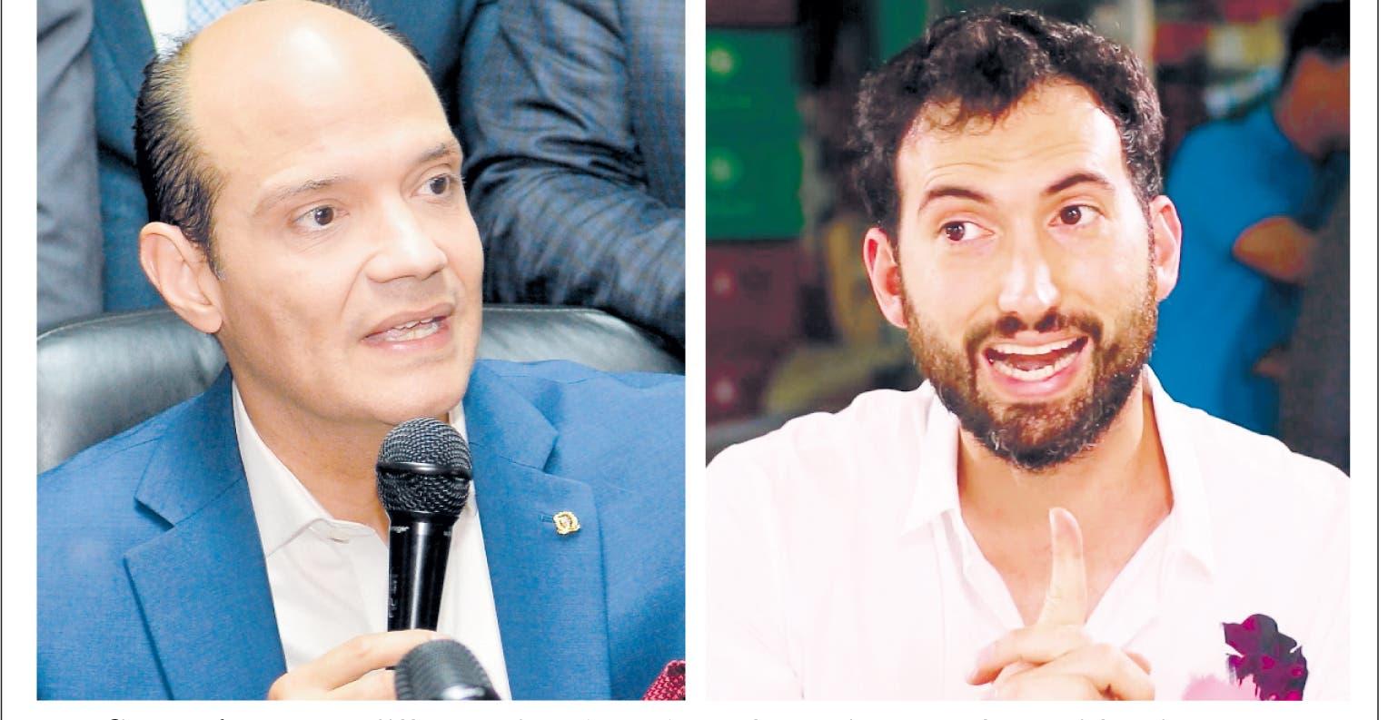 Ramfis Domínguez Trujillo  y  Karim Abu Naba' a, dos  aspirantes  a la Presidencia.