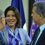 Danilo Medina, Margarita Cedeño y Leonel Fernández.