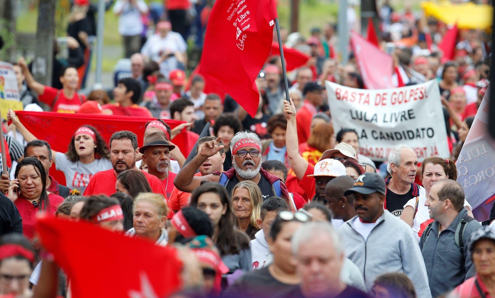 La mayor afluencia a favor del expresidente Luiz Inácio Lula da Silva  se vio en Sao Paulo, la ciudad más poblada de Brasil.