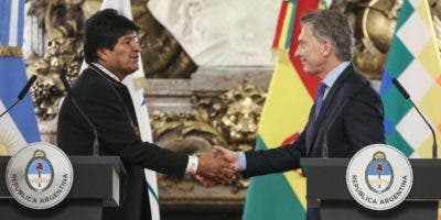 Evo Morales y Mauricio Macri solo hablaron de negocios. EFE.