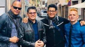 Darys junto a Miguel Ángel,  Eddy Manuel y Willy.