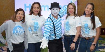 Cynthia Modesto, Odile Ferreras, Iderisa López y Thea Rodríguez, durante la celebración.