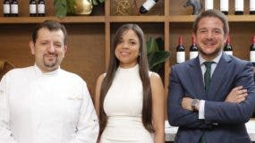 Chef Alberto Martín, Michelle Menéndez y Pablo Paredes.
