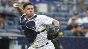 Gary Sánchez ha comenzado bastante mal a la defensa en la receptoría, llevando preocupación a los Yankees.   AP