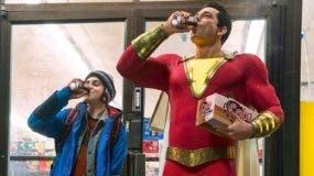 SHAZAM!(L-r) JACK DYLAN GRAZER as Freddy Freeman and ZACHARY LEVI as Shazam