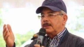 Presidente Medina en el municipio de Pedro Corto ayer.