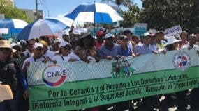 Trabajadores continuarán lucha en este mes.  FUENTE EXTERNA