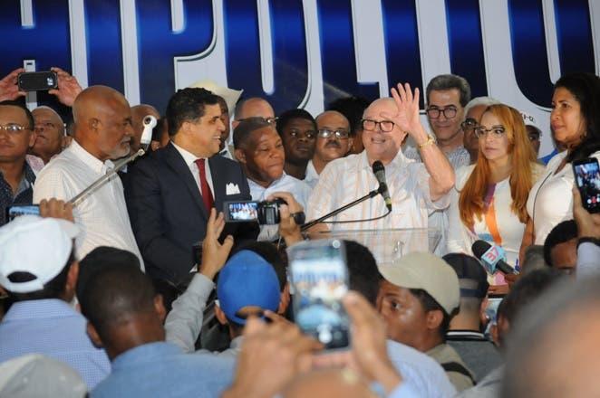 Hipólito Mejía promete encabezar un gobierno que enfrente la corrupción y la impunidad