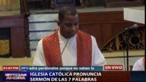 El padre José Alberto Vargas fue el primero en intervenir en el Sermón de las Siete Palabras de este viernes Santo.