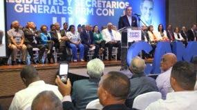 Luis Abinader habló en una reunión de presidentes y secretarios generales provinciales, municipales y de distritos municipales del PRM de todo el país.