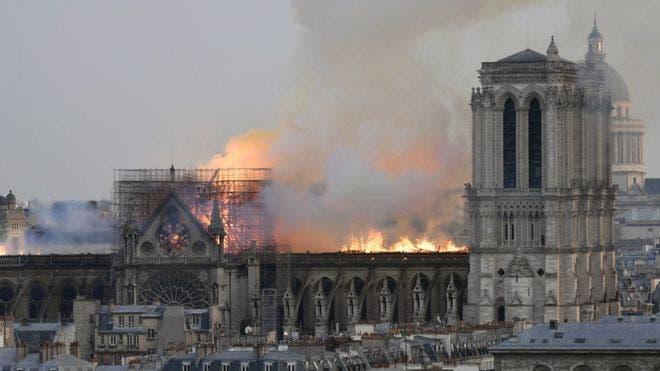 El incendio empezó a eso de las 18:30 locales.